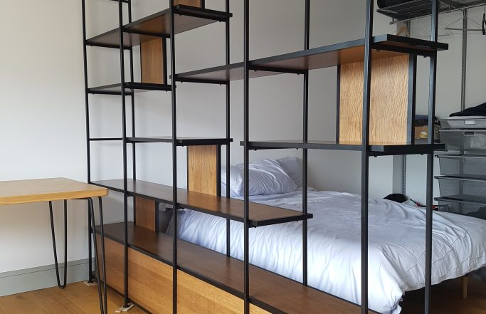 Open shelving / room divide London